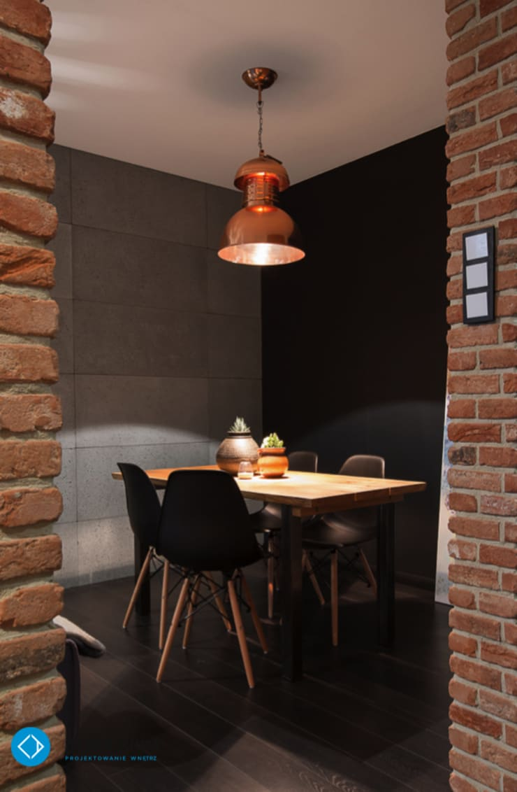 mieszkanie kawalera: styl , w kategorii Jadalnia zaprojektowany przez Anna Krzak architektura wnętrz,