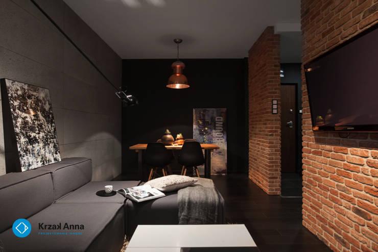 mieszkanie kawalera: styl , w kategorii Jadalnia zaprojektowany przez Anna Krzak architektura wnętrz