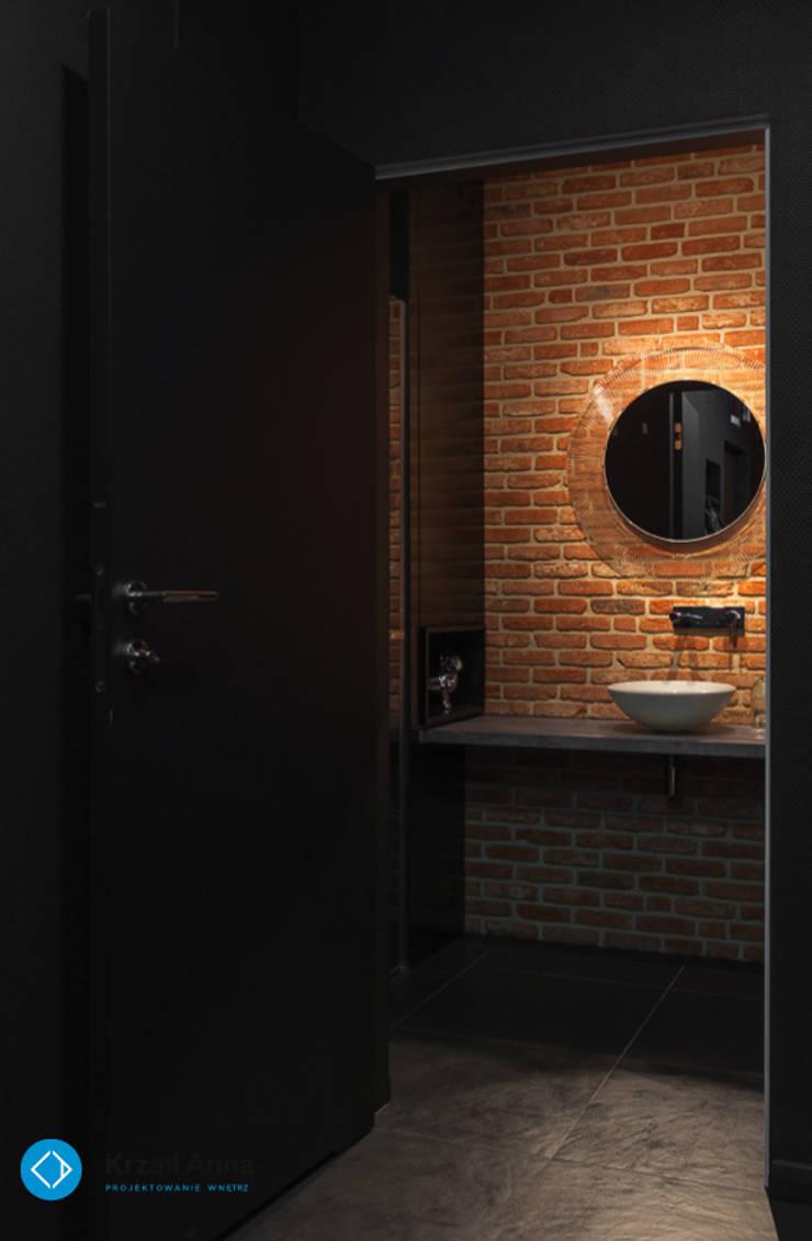 mieszkanie kawalera: styl , w kategorii Łazienka zaprojektowany przez Anna Krzak architektura wnętrz,