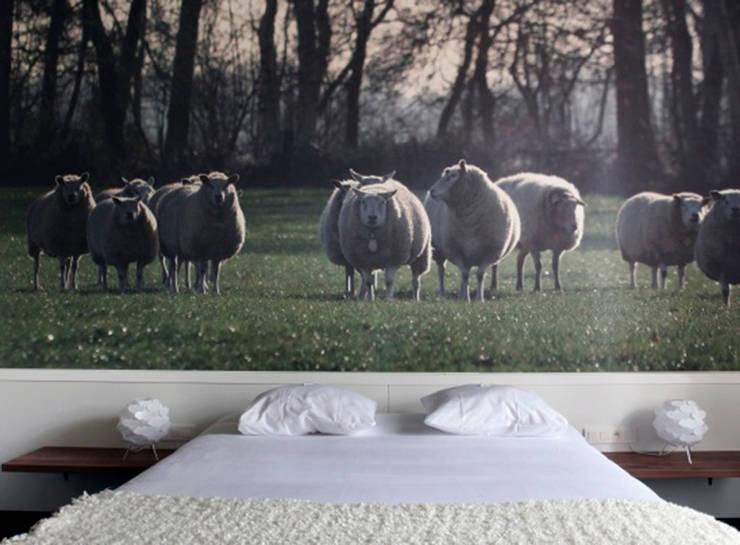 Decoración de habitación con papel pintado impreso: Paredes de estilo  de Shoptoshop.com