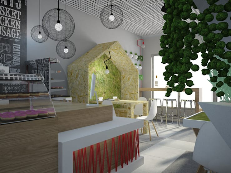 Restaurants de style  par Kameleon - Kreatywne Studio Projektowania Wnętrz