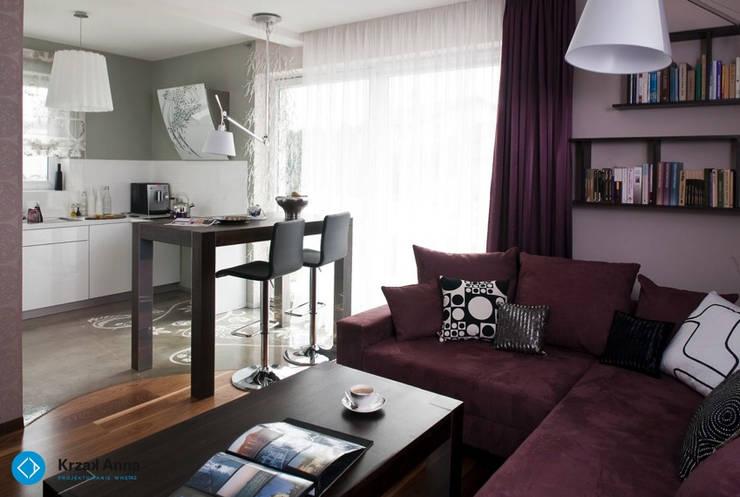 modern home: styl , w kategorii Jadalnia zaprojektowany przez Anna Krzak architektura wnętrz