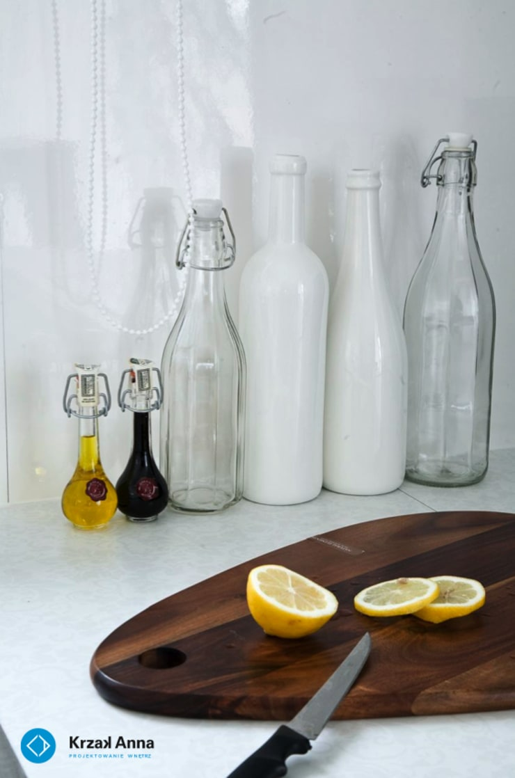 modern home: styl , w kategorii Kuchnia zaprojektowany przez Anna Krzak architektura wnętrz