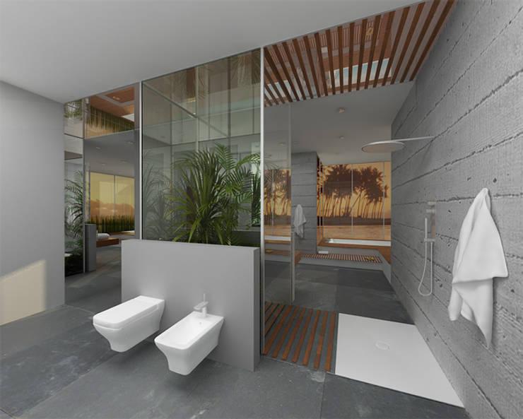 Salon kąpielowy - nowoczesność w Poznaniu: styl , w kategorii Łazienka zaprojektowany przez Kameleon - Kreatywne Studio Projektowania Wnętrz,