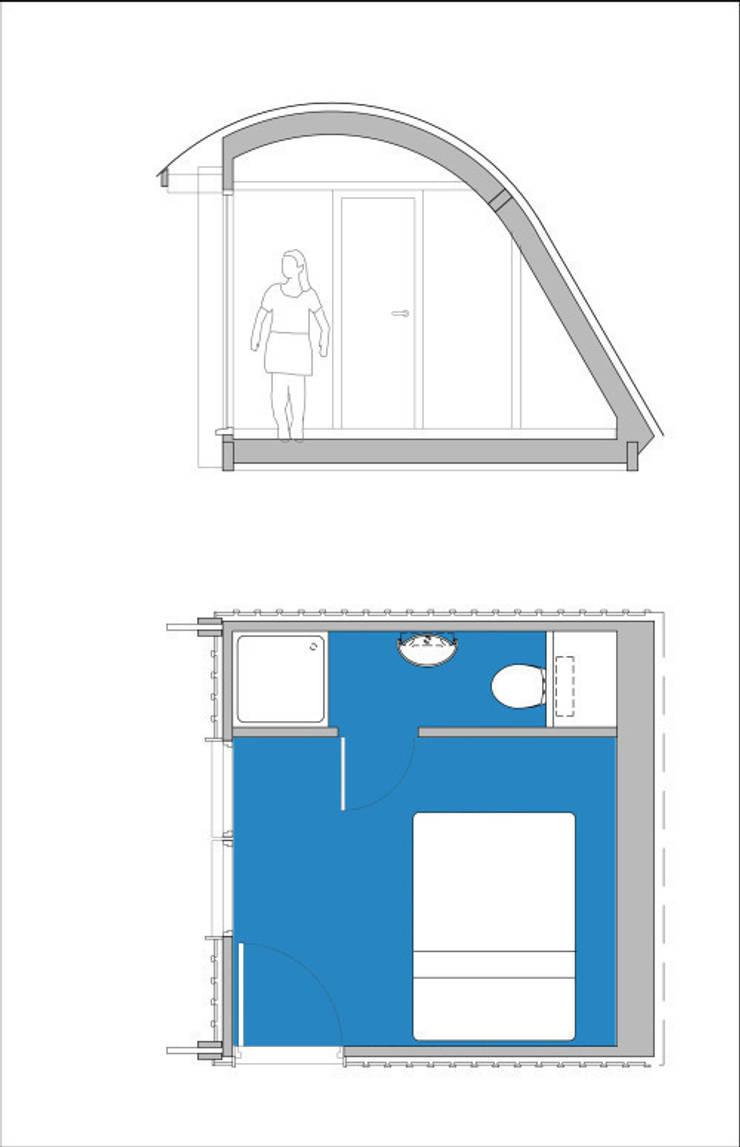 MorphPOD 3.4 with en suite:  Bedroom by Morphut Ltd