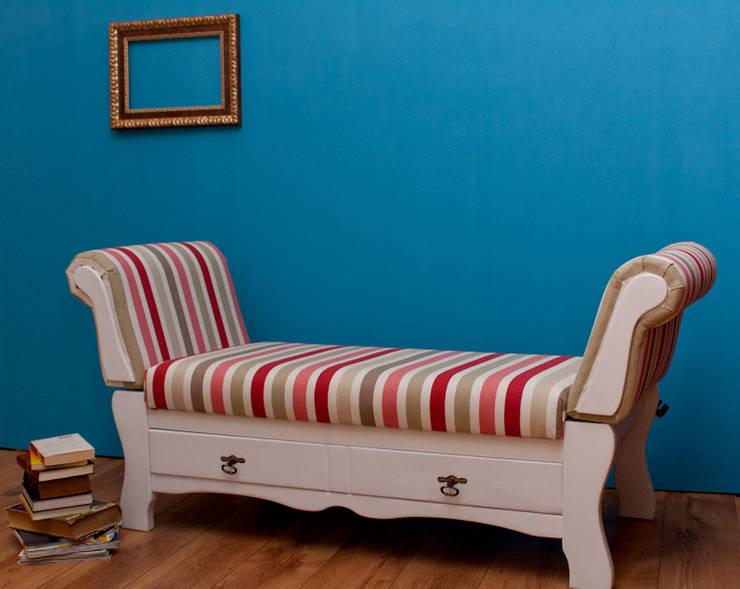 Sofa szezlong: styl , w kategorii Salon zaprojektowany przez Agnieszka Gamus