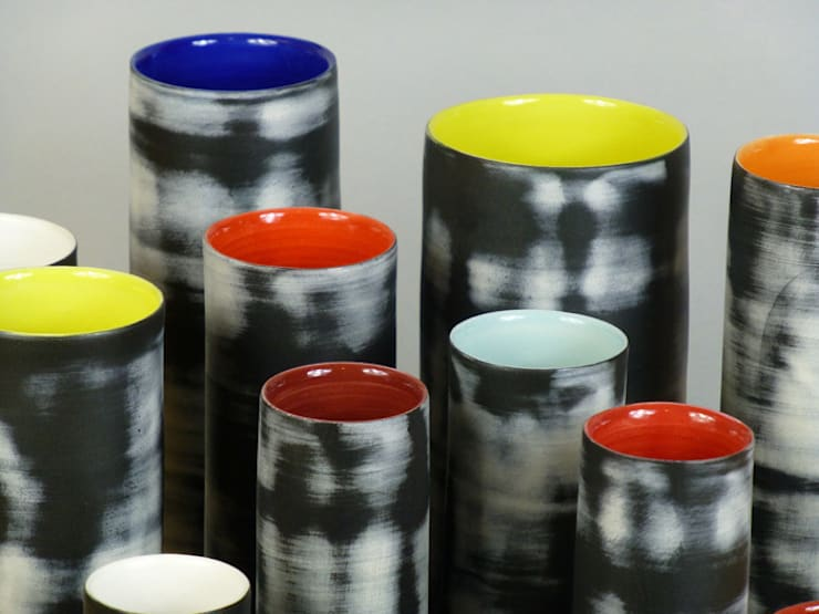 Nebula Cylinders, 16-28cm:  Artwork by Andrew Temple Smith Ceramics