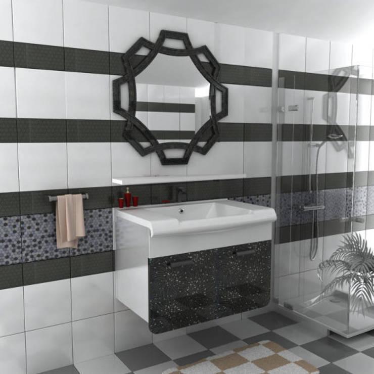 Dekoset Çelik Kapı Mobilya San Tic Ltd Şti. – lüks banyo dolabı:  tarz Banyo