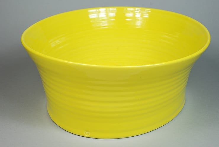 Eccentric Bowl, porcelain, 29cm:  Dining room by Andrew Temple Smith Ceramics