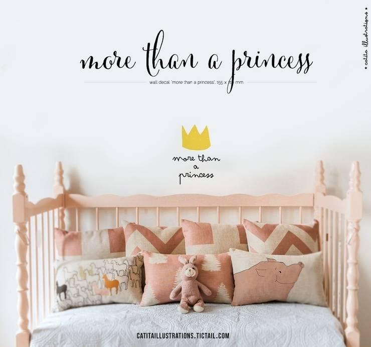 More than a Princess: Quarto de crianças  por catita illustrations®