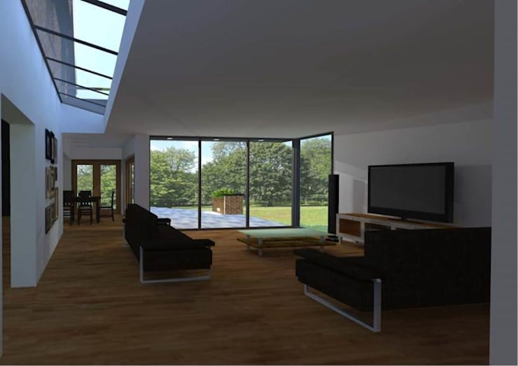 House Extension:  Living room by allenarchitecturelimited