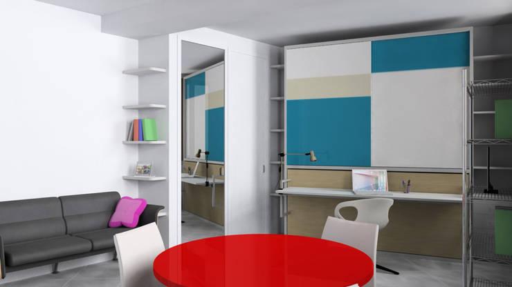Monolocale trasformabile: Studio in stile in stile Moderno di Gentile Architetto