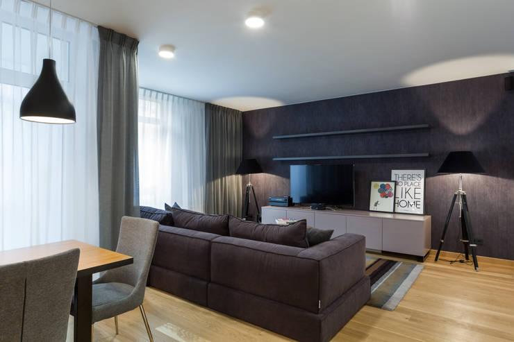 Квартира с характером: Гостиная в . Автор – LPetresku, Минимализм