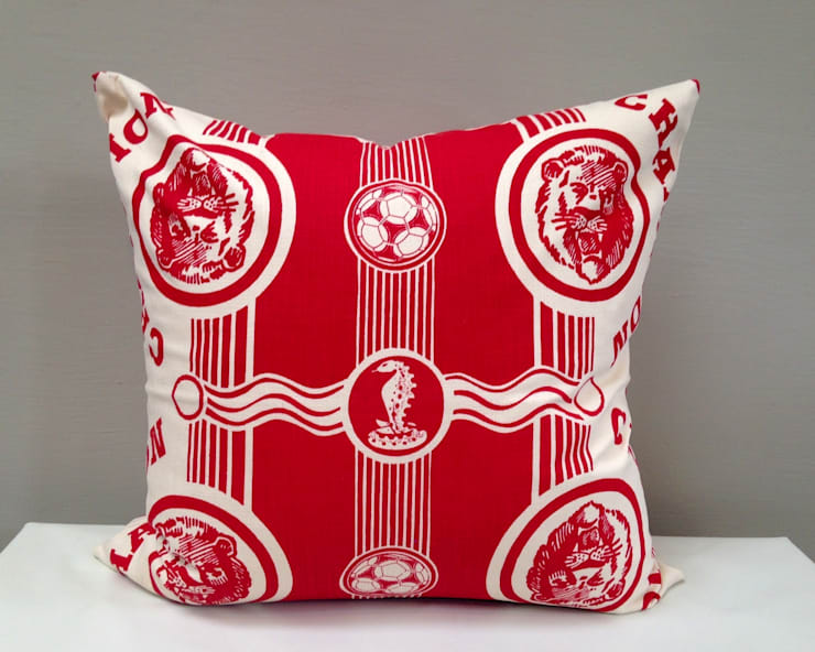Champion Scatter Cushion in red:  Nursery/kid's room by Porcupine Rocks Ltd