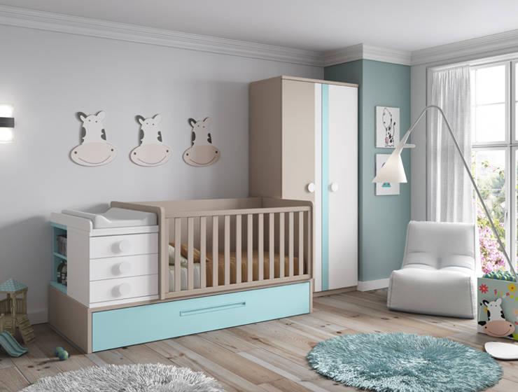 Cuna convertible de diseño moderno : Habitaciones infantiles de estilo  de Muebles Fun