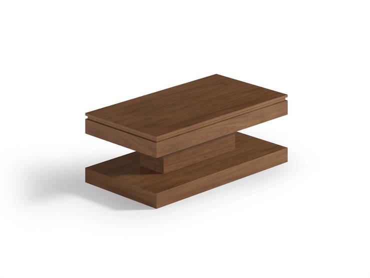Mesa de diseño elevable en color nogal: Comedor de estilo  de Martbert Mobiliario