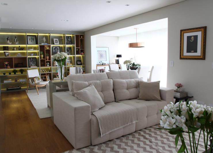 _IN Panamby II: Salas de estar modernas por ARQ_IN