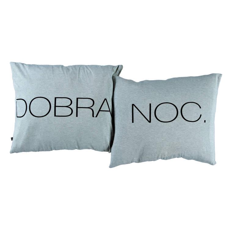 Poduszki DOBRANOC. szare: styl , w kategorii Sypialnia zaprojektowany przez Nocne Dobra