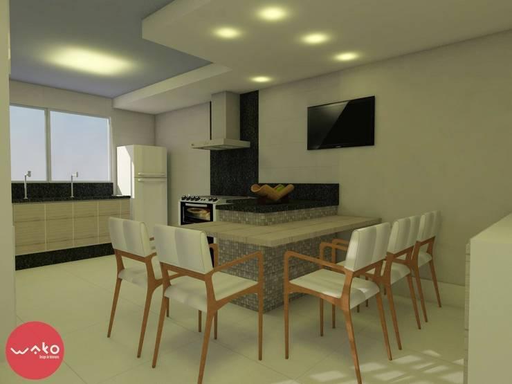 Cozinha: Cozinhas  por WAKO Design de Interiores
