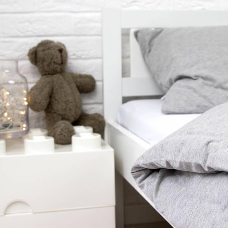 Pościel dzianinowa dziecięca gładka: styl , w kategorii Pokój dziecięcy zaprojektowany przez Nocne Dobra