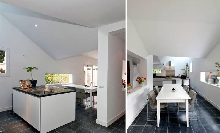 uitbreiding woonhuis Maarn: moderne Keuken door Richel Lubbers Architecten