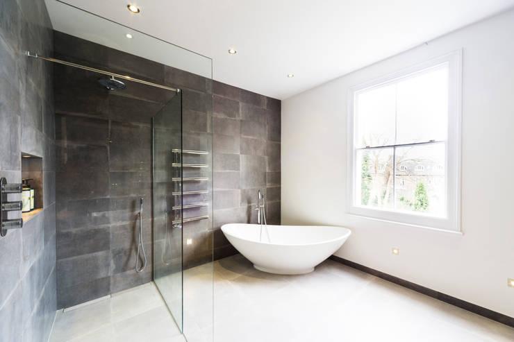 Contemporary new bathroom :  Bathroom by Affleck Property Services