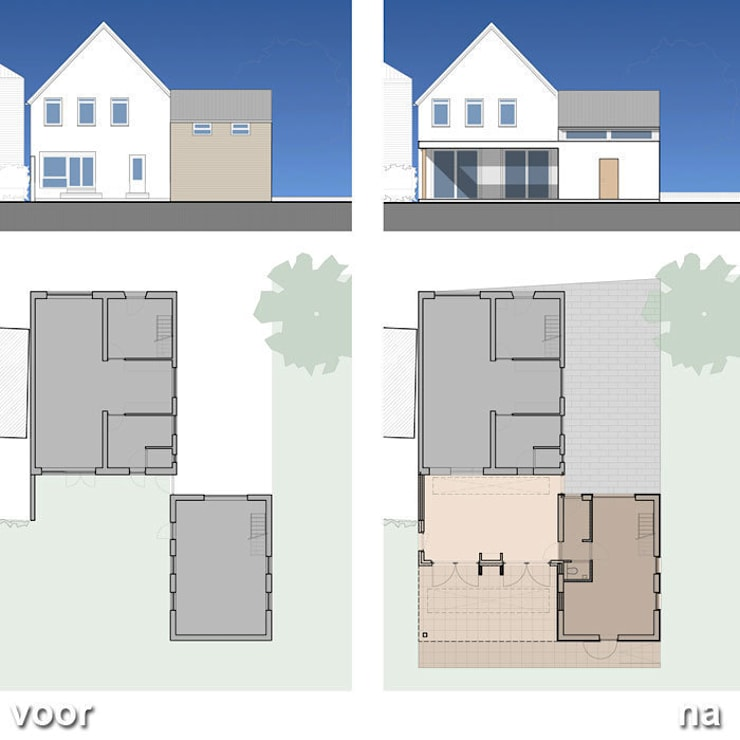 Aanbouw woonhuis Geverik:   door SeC architecten