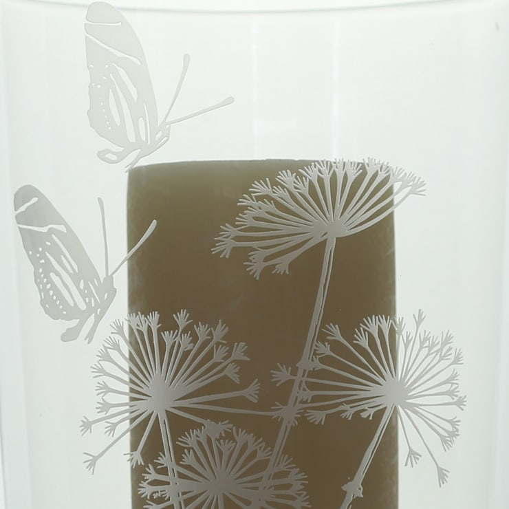 Cow Parsley Storm Lantern Large:  Artwork by Sara Newman Design