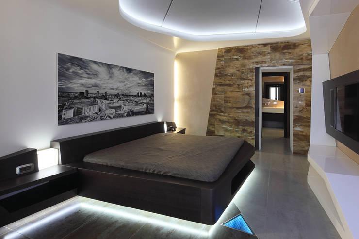квартира на Масловке: Спальни в . Автор – Disobject architects