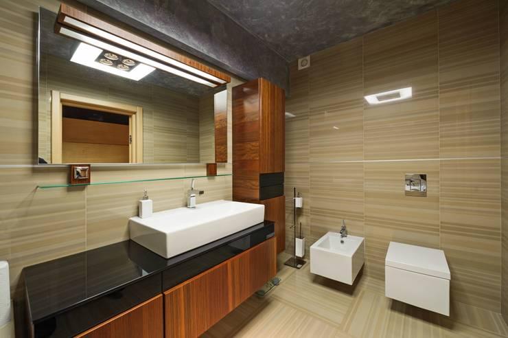 Редизайн четырехкомнатной квартиры в г. Саратов: Ванные комнаты в . Автор – Павел Исаев
