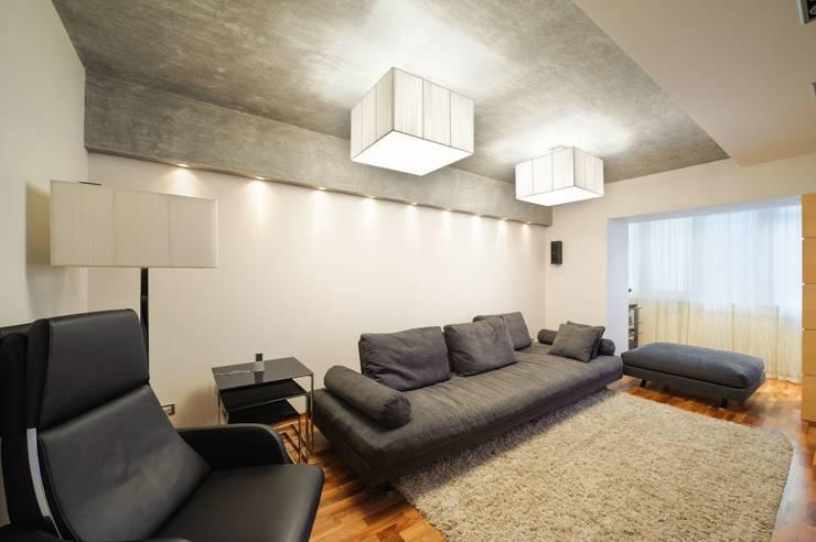 Редизайн четырехкомнатной квартиры в г. Саратов: Гостиная в . Автор – Павел Исаев