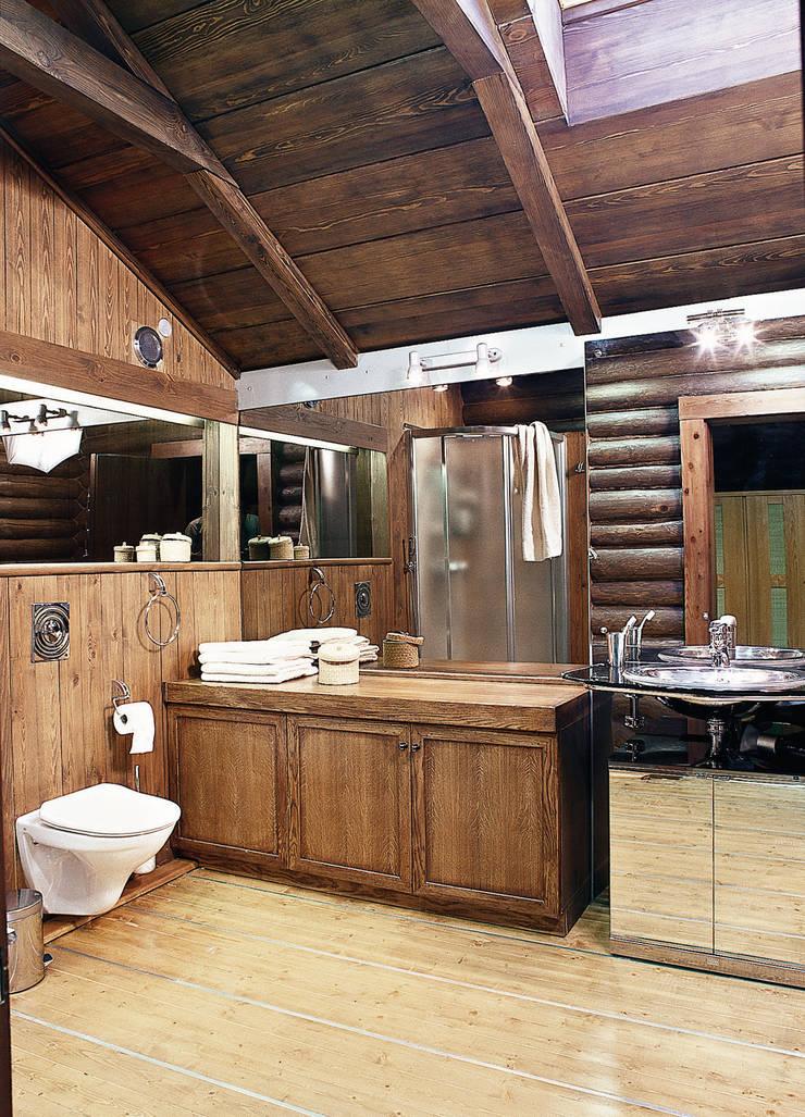 Баня в подмосковье: Ванные комнаты в . Автор – ARP Studio