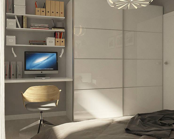 Нюансы белого: Спальни в . Автор – CO:interior