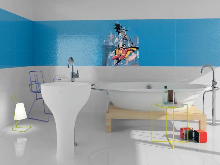 Batman & Robin:  Bathroom by Target Tiles