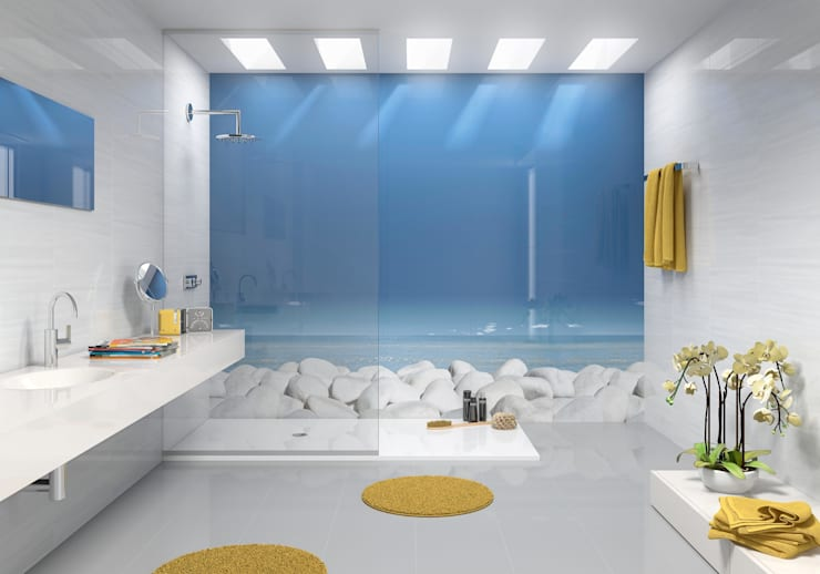 modern Bathroom تنفيذ Target Tiles