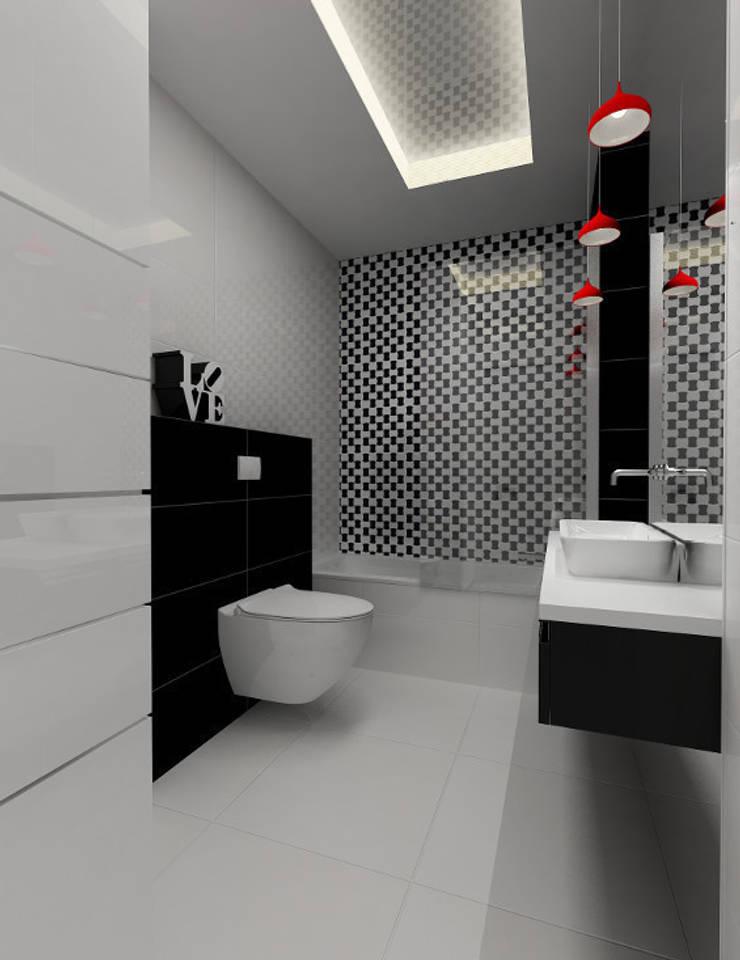 Projekt wnętrza na poddaszu - Połczyn Zdrój: styl , w kategorii Łazienka zaprojektowany przez Kameleon - Kreatywne Studio Projektowania Wnętrz