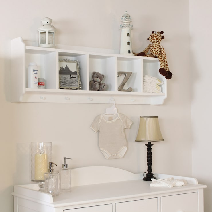 Nutkin Wall Mounted Storage Unit with Hanging Pegs:  Nursery/kid's room by Harley & Lola