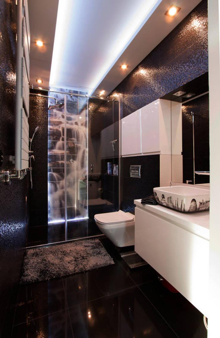 Luksusowe szarości: styl , w kategorii Łazienka zaprojektowany przez Kameleon - Kreatywne Studio Projektowania Wnętrz