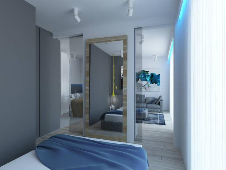 APARTAMENT KRASIŃSKICH  39m2 WARSZAWA: styl , w kategorii Sypialnia zaprojektowany przez The Vibe
