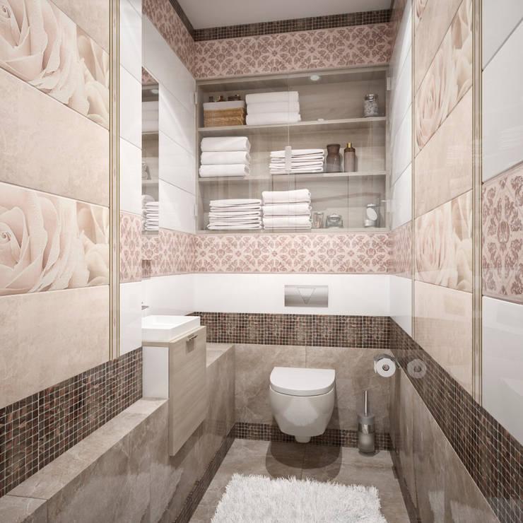 Четырехкомнатная квартира для молодой семьи : Ванные комнаты в . Автор – Студия архитектуры и дизайна ДИАЛ