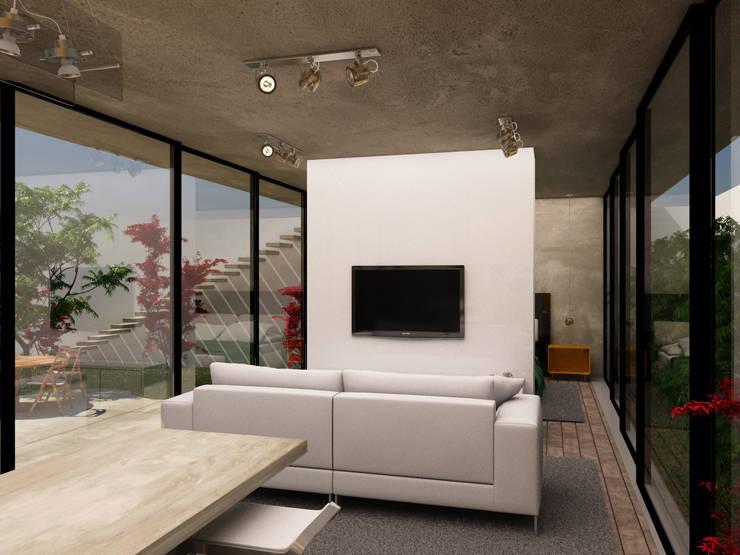 Sala de Estar/Jantar: Salas de estar  por Ateliê São Paulo Arquitetura