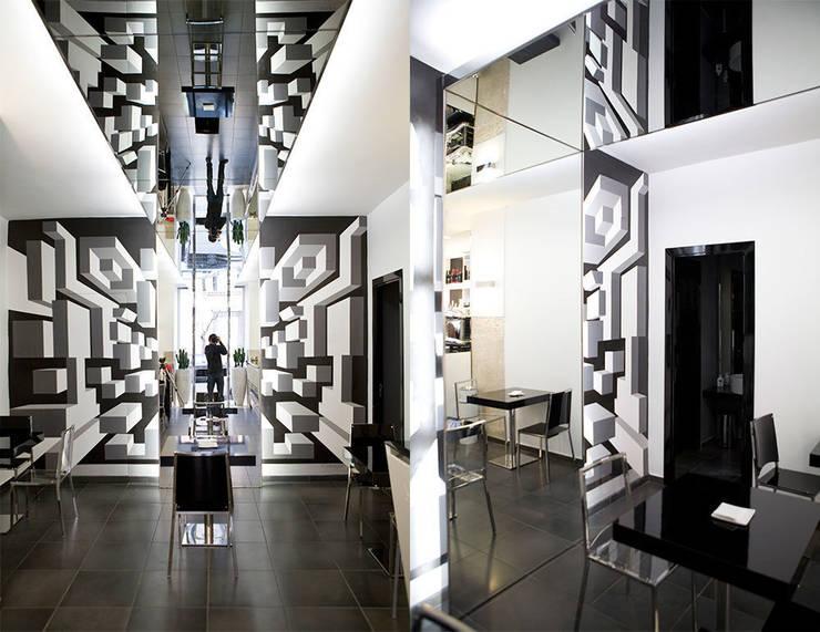 Wall Design - Lunch Bar: Pareti & Pavimenti in stile in stile Moderno di Todesign