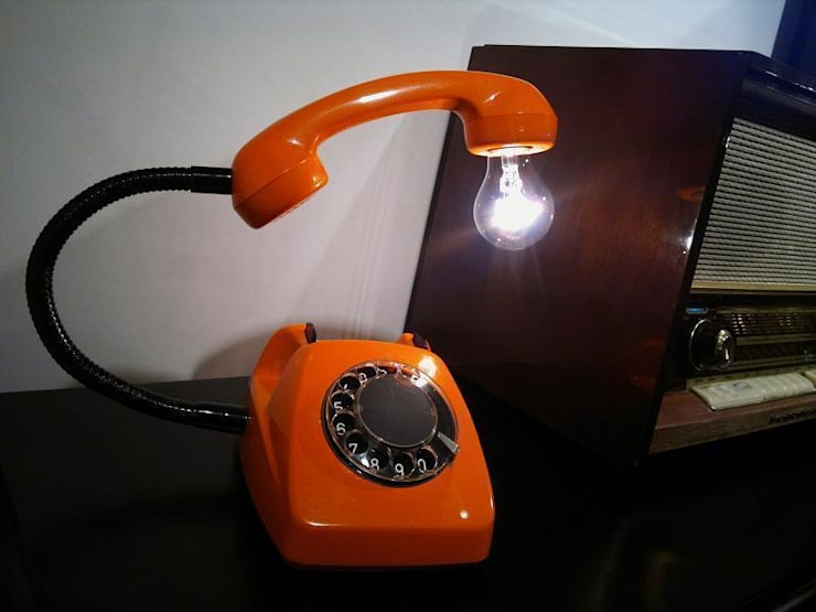 teleLAMPAfon - eReFeN 77': styl , w kategorii Salon zaprojektowany przez RefreszDizajn