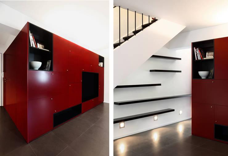 Duplex Olivais _ Reabilitação Arquitetura: Salas de estar  por Tiago Patricio Rodrigues, Arquitectura e Interiores