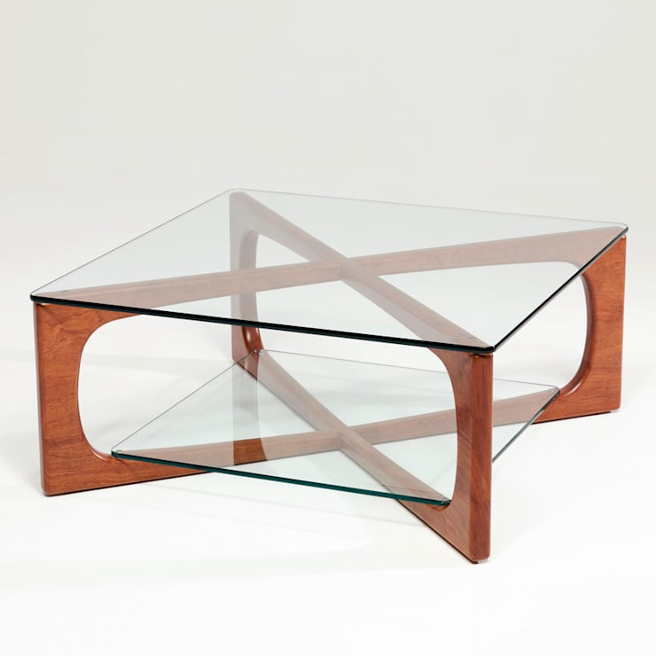 MESA CENTRO LOTO: Salones de estilo  de Estudio de diseño,  espacios y mobiliario,  Carmen Menéndez