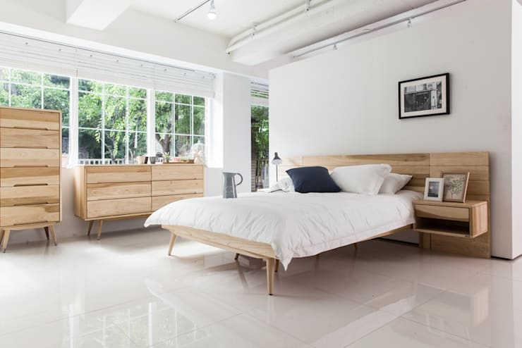 Dormitorios de estilo escandinavo de 시더스디자인그룹