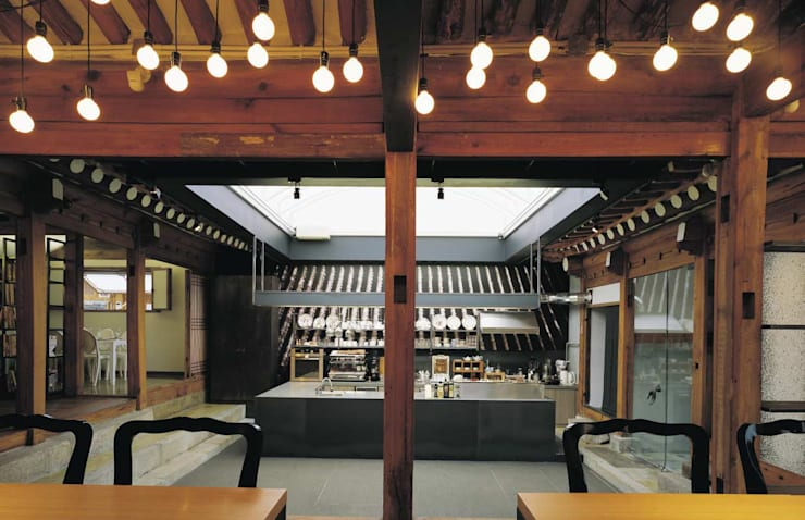FOOD GALLERY_BOOKS COOKS: inexdesign의  상업 공간