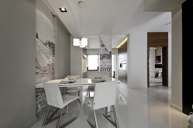 Dom prywatny w Gdynia 2010: styl , w kategorii Jadalnia zaprojektowany przez formativ. indywidualne projekty wnętrz