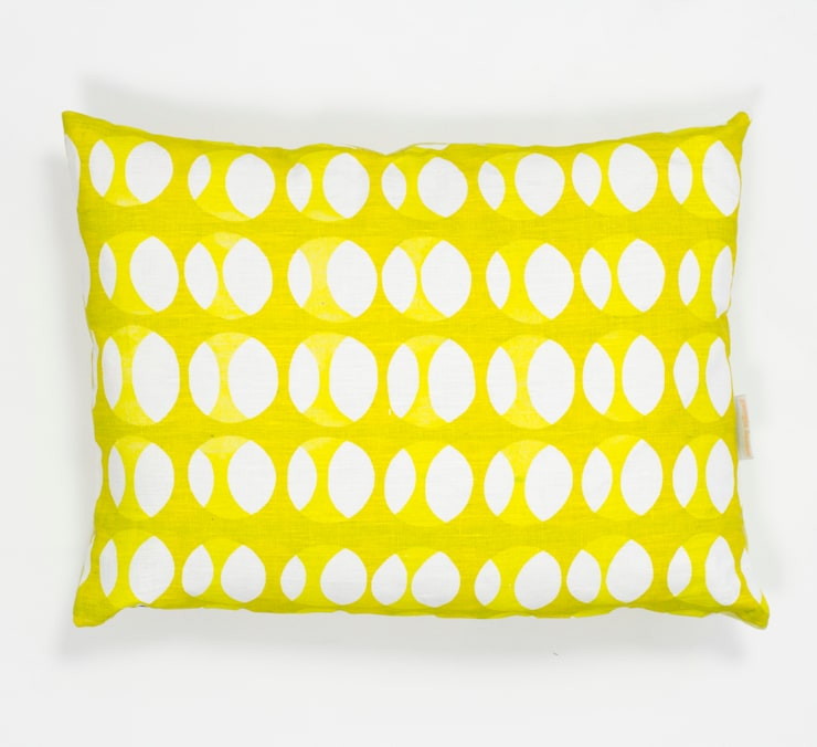 Offset print cushion in Mustard and Lime:  Household by Georgia Bosson