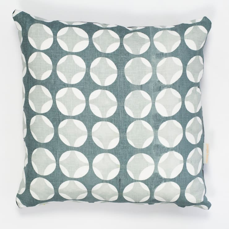 Crosses print cushion in grey:  Household by Georgia Bosson